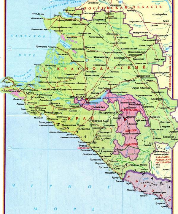 Карты черноморского побережья